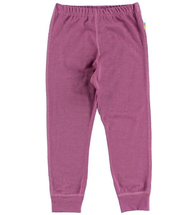 Pantaloni colanţi din lână merinos pentru copii Dusty Purple Joha