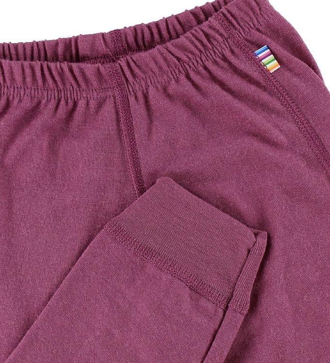 Pantaloni colanţi din lână merinos pentru copii Fuchsia Joha 2