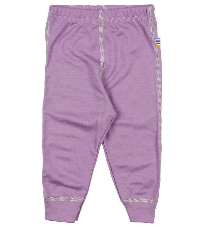 Pantaloni colanţi din lână merinos pentru copii Lavender Joha