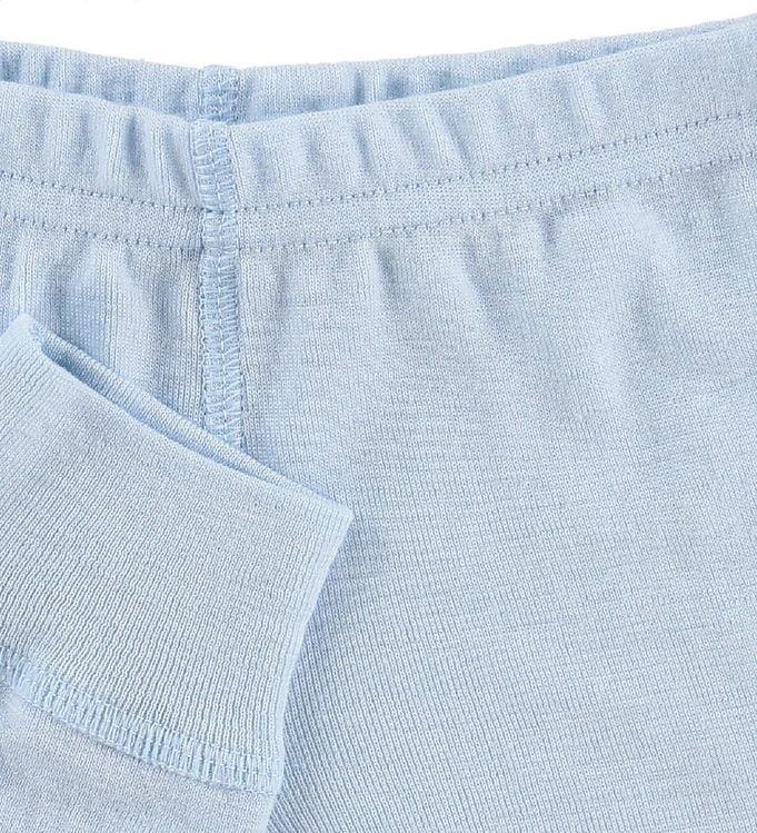 Pantaloni colanţi din lână merinos pentru copii Light Blue Joha 2