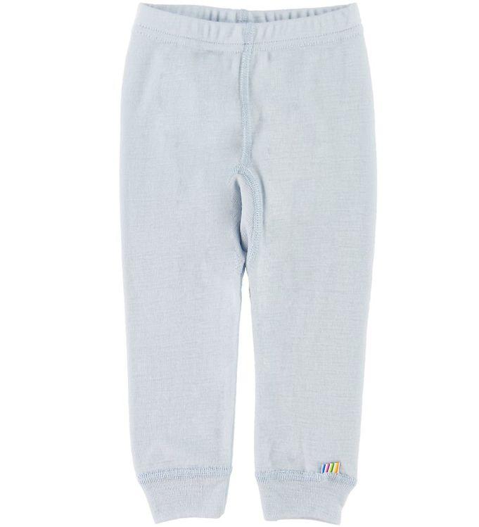Pantaloni colanţi din lână merinos pentru copii Light Blue Joha