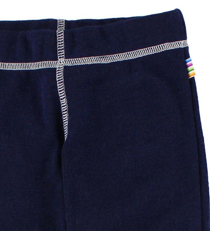 Pantaloni colanţi din lână merinos pentru copii Navy Joha 2