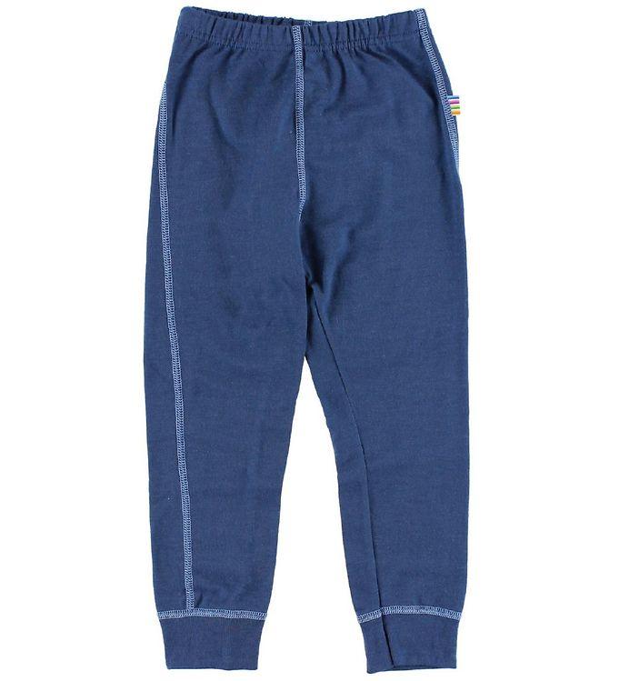 Pantaloni colanţi din lână merinos pentru copii Navy Joha
