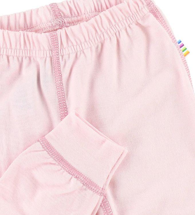 Pantaloni colanţi din lână merinos pentru copii Pink Joha 2