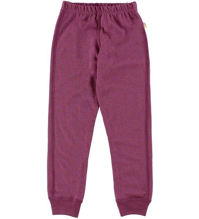 Pantaloni colanţi din lână merinos pentru copii Fuchsia Joha