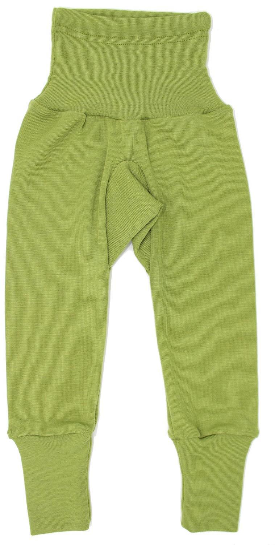 Pantaloni colanţi din lână merinos și mătase organică Green Cosilana