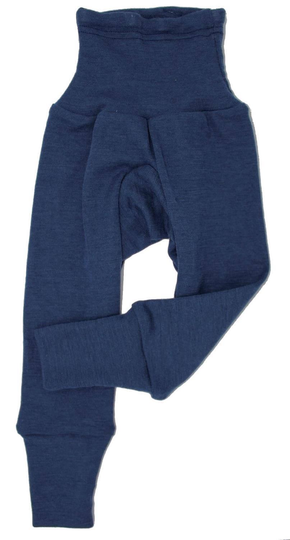 Pantaloni colanţi din lână merinos și mătase organică Marine Cosilana 2