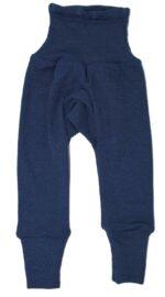 Pantaloni colanţi din lână merinos și mătase organică Marine Cosilana