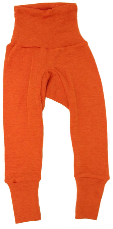 Pantaloni colanţi din lână merinos și mătase organică Orange Cosilana