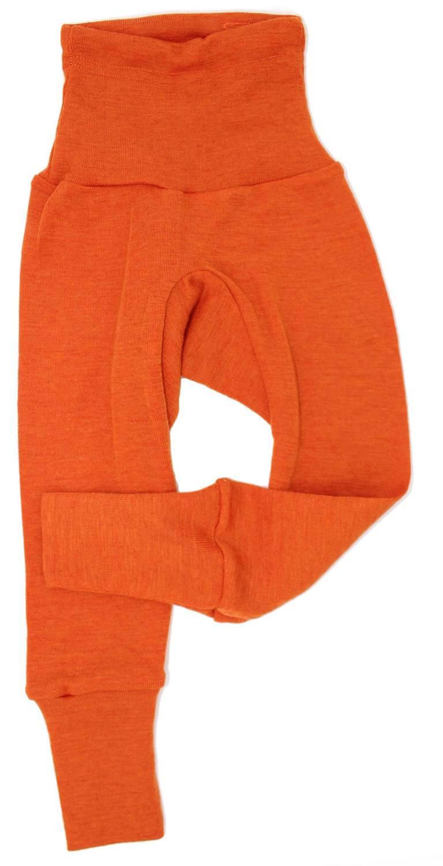 Pantaloni colanţi din lână merinos și mătase organică Orange Cosilana 2