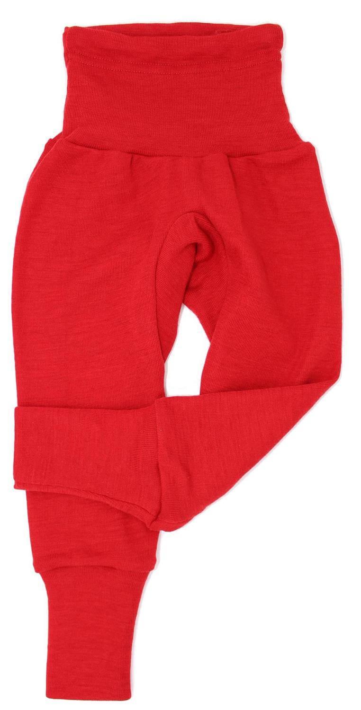 Pantaloni colanţi din lână merinos și mătase organică Red Cosilana 2