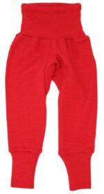 Pantaloni colanţi din lână merinos și mătase organică Red Cosilana