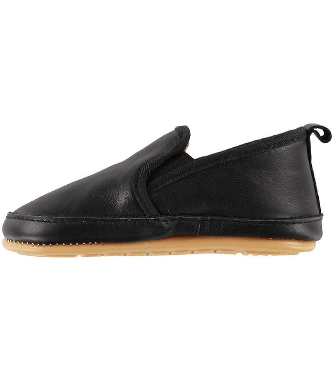 Pantofi barefoot cu elastic din piele naturală pentru primii pași Black Move By Melton 2