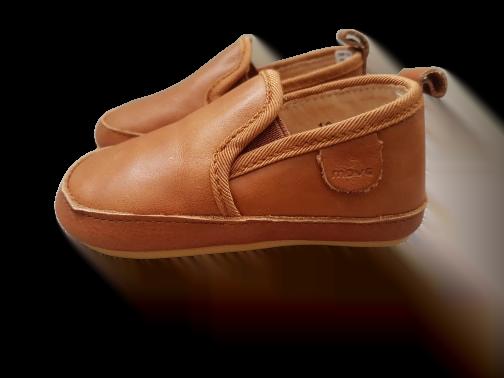 Pantofi barefoot cu elastic din piele naturală pentru primii pași Cognac Move By Melton 3