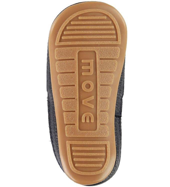 Pantofi barefoot cu elastic din piele naturală pentru primii pași Navy Move By Melton 3