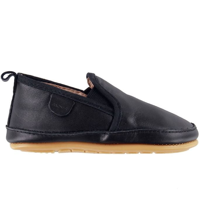 Pantofi barefoot cu elastic din piele naturală pentru primii pași Navy Move By Melton