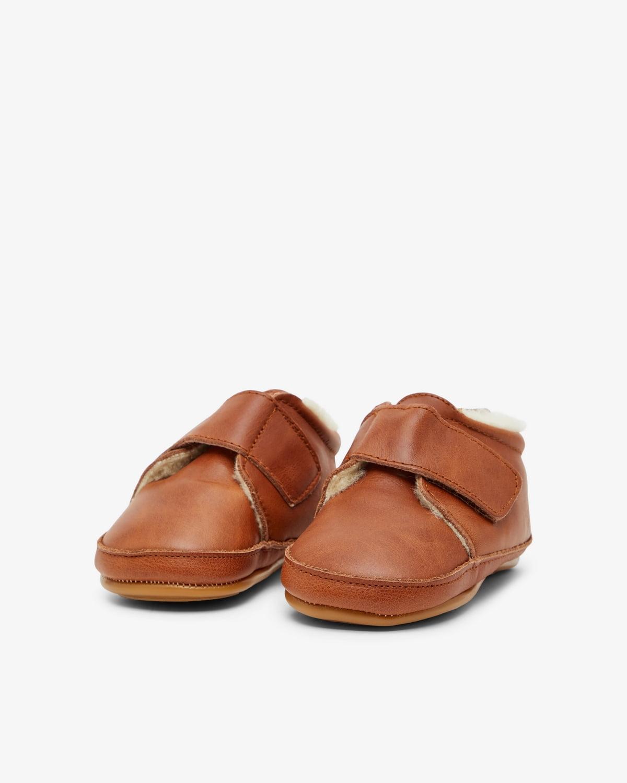 Pantofi barefoot din piele naturală căptușiți cu lână pentru primii pași Cognac Move By Melton 2