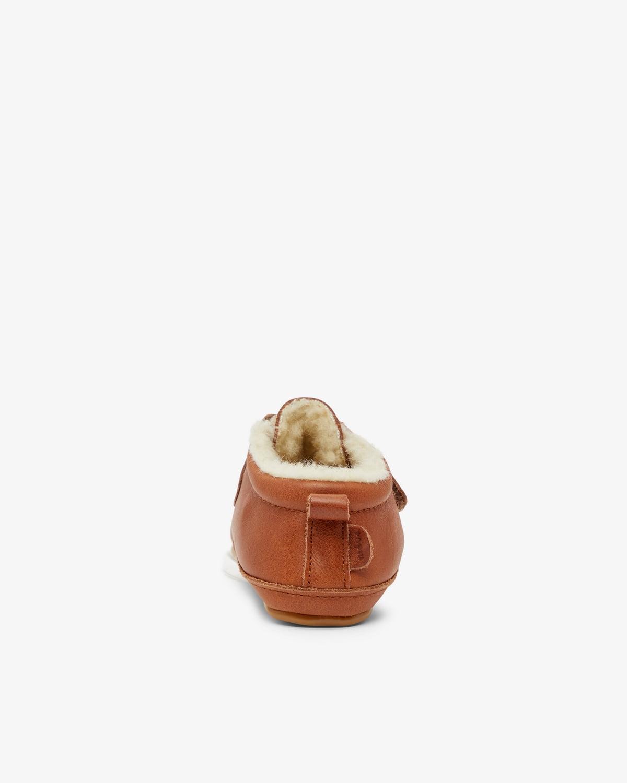 Pantofi barefoot din piele naturală căptușiți cu lână pentru primii pași Cognac Move By Melton 3