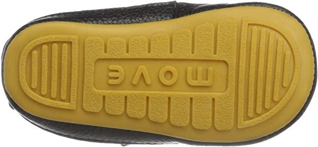 Pantofi barefoot din piele naturală pentru primii pași Black Move By Melton 4
