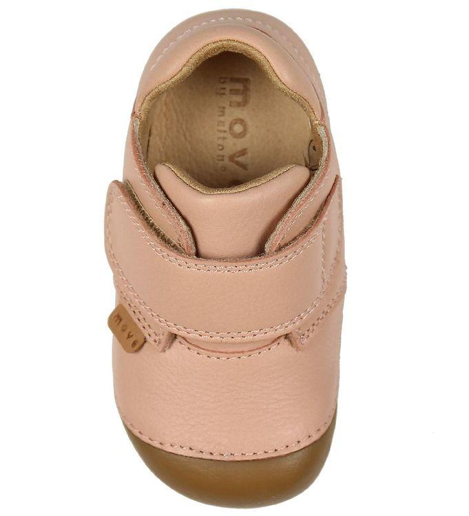 Pantofi barefoot din piele naturală pentru primii pași Chintz Rose By Melton 3