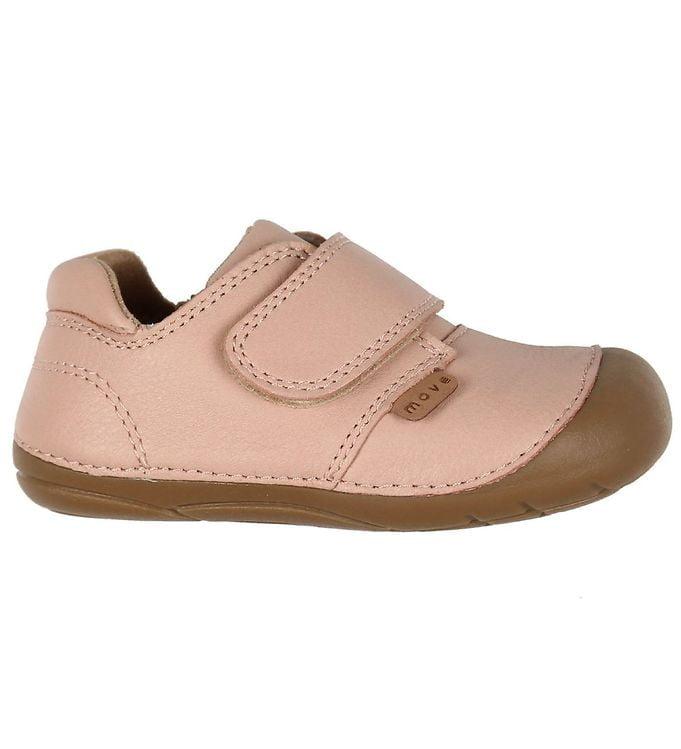 Pantofi barefoot din piele naturală pentru primii pași Chintz Rose By Melton