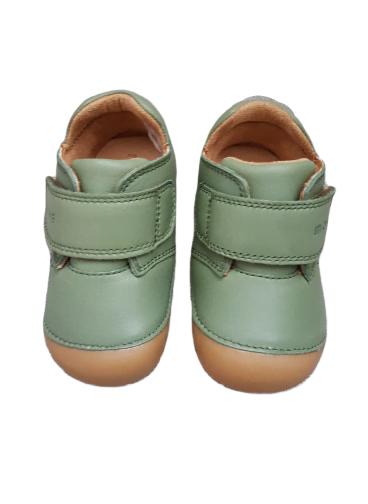 Pantofi barefoot din piele naturală pentru primii pași Dusty Olive By Melton 3
