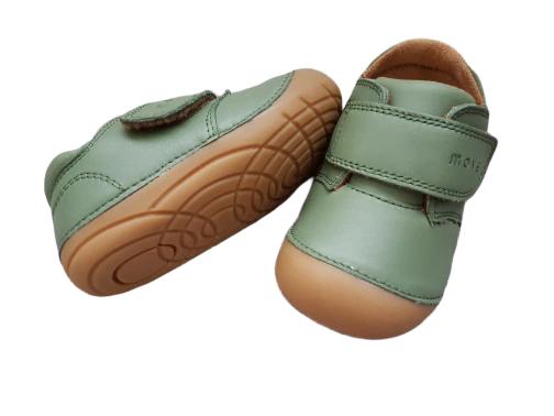 Pantofi barefoot din piele naturală pentru primii pași Dusty Olive By Melton 4