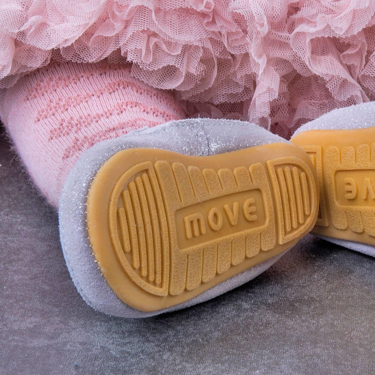 Pantofi barefoot din piele naturală pentru primii pași Move By Melton