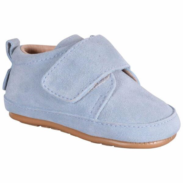 Pantofi barefoot din piele naturală pentru primii pași Parisian Blue Move By Melton