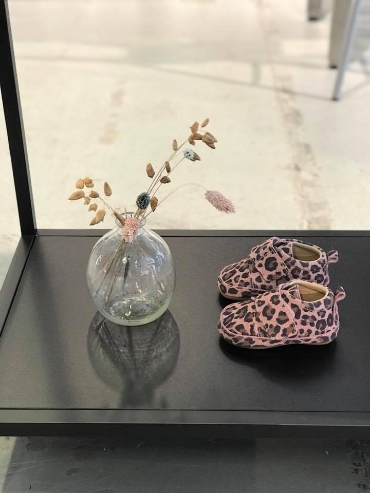 Pantofi barefoot din piele naturală pentru primii pași Rose Leopard Move By Melton 3