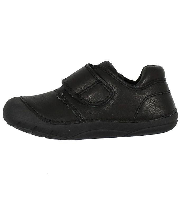 Pantofi barefoot din piele pentru primii pași Black Move By Melton 2