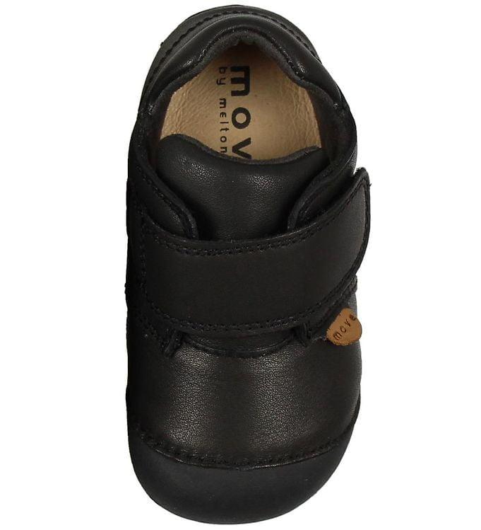 Pantofi barefoot din piele pentru primii pași Black Move By Melton 3