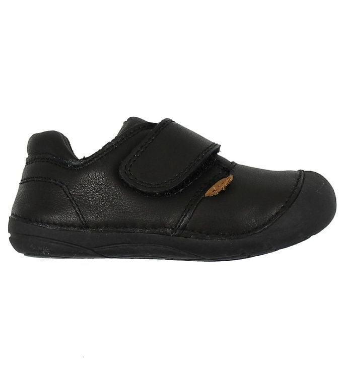 Pantofi barefoot din piele pentru primii pași Black Move By Melton