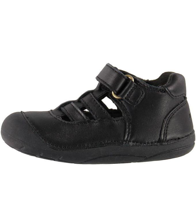 Sandale barefoot din piele naturală pentru primii pași Black By Melton 2