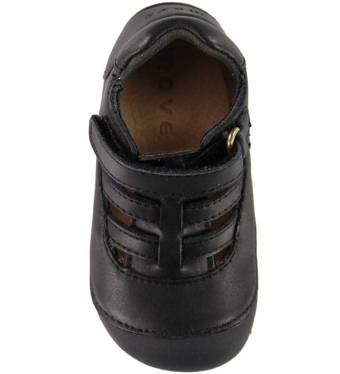 Sandale barefoot din piele naturală pentru primii pași Black By Melton 3