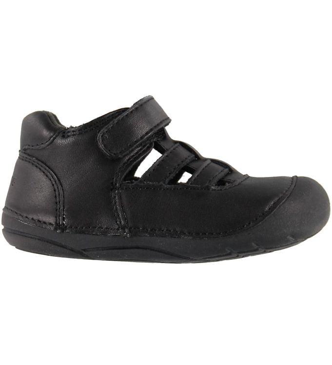 Sandale barefoot din piele naturală pentru primii pași Black By Melton
