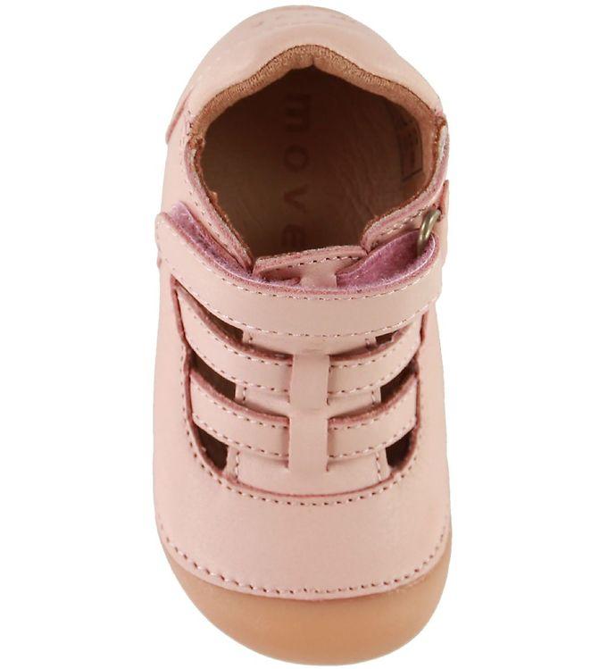 Sandale barefoot din piele naturală pentru primii pași Chintz Rose By Melton 3
