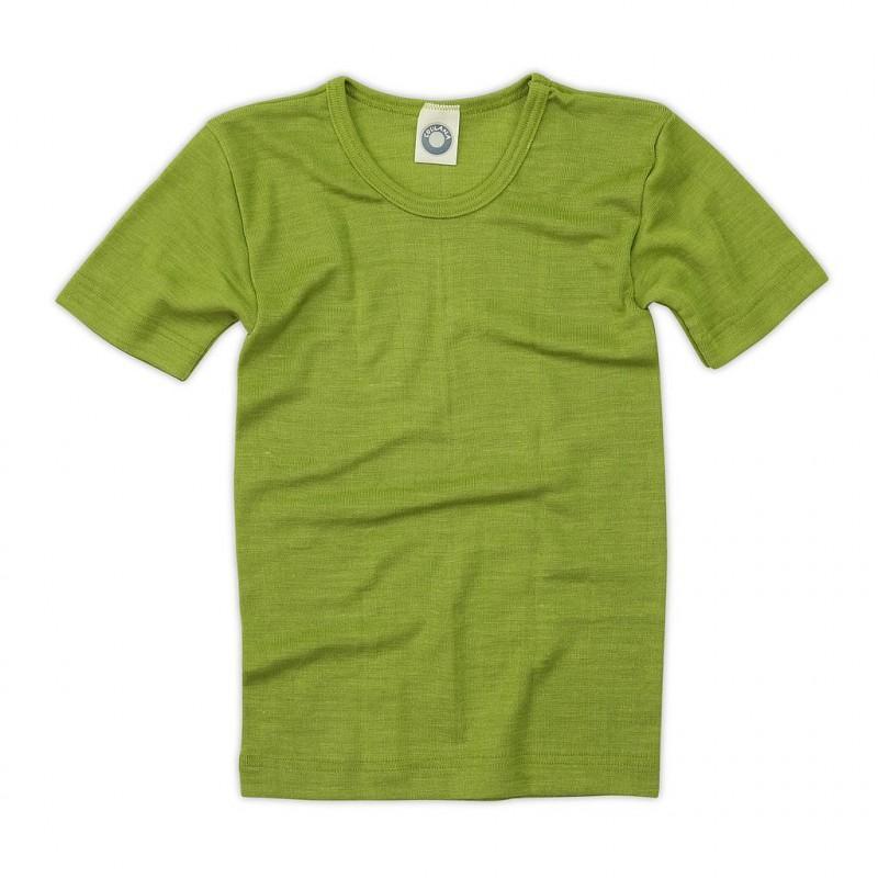 Tricou din lână merinos şi mătase organică Green Cosilana