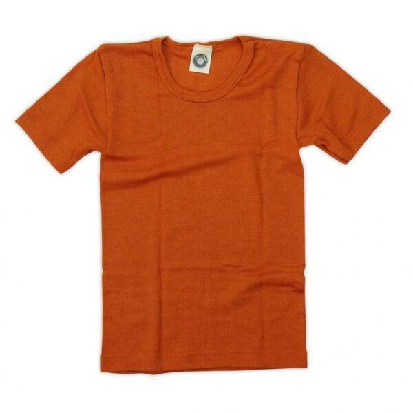 Tricou din lână merinos şi mătase organică Orange Cosilana