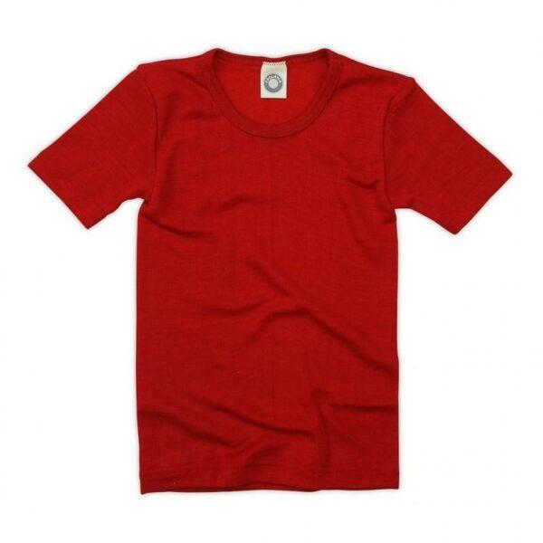 Tricou din lână merinos şi mătase organică Red Cosilana