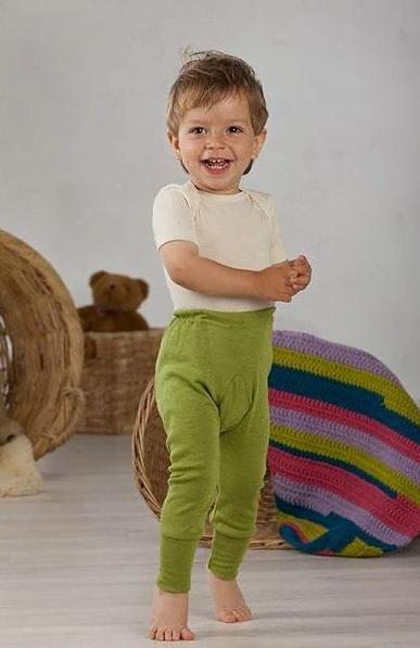 Pantaloni colanţi din lână merinos și mătase organică Cosilana
