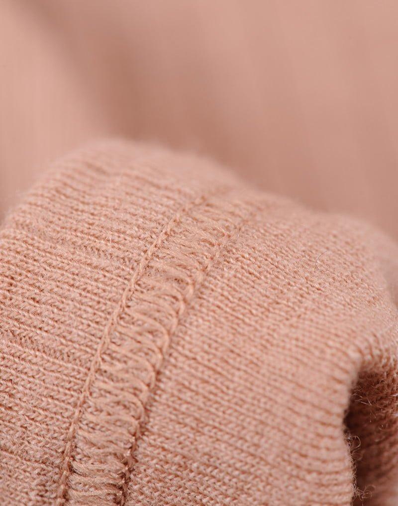 Bluză cu mânecă lungă powder din lână merinos organică rib pentru copiii Dilling 2