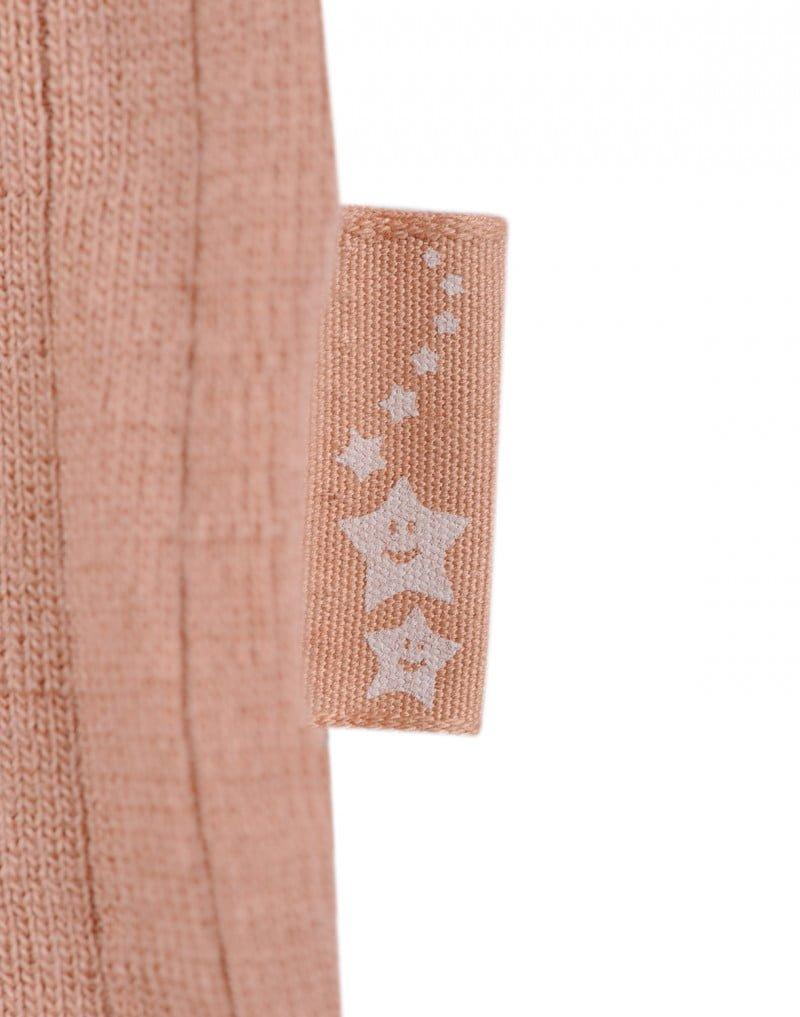 Bluză cu mânecă lungă powder din lână merinos organică rib pentru copiii Dilling 4