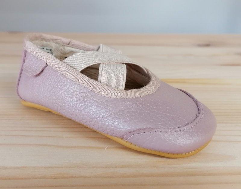 Balerini barefoot din piele naturală pentru primii pași Alt Rosa Move By Melton