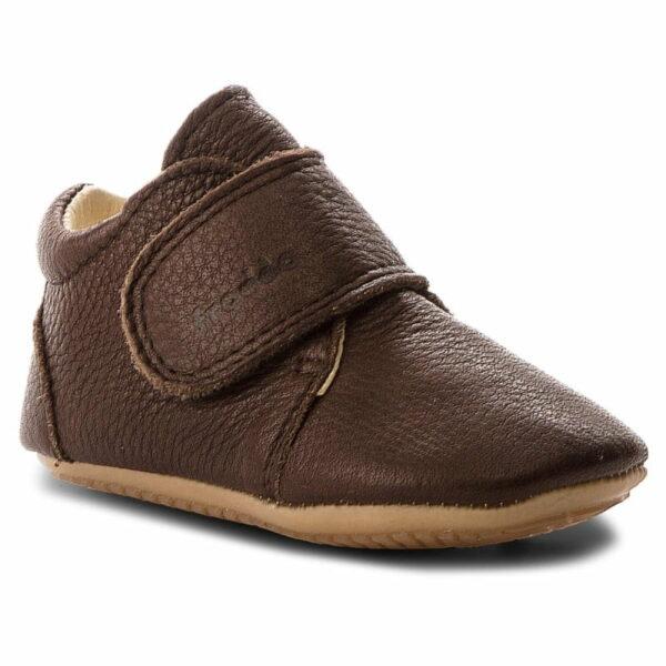 Pantofi barefoot din piele pentru primii pași brown Froddo