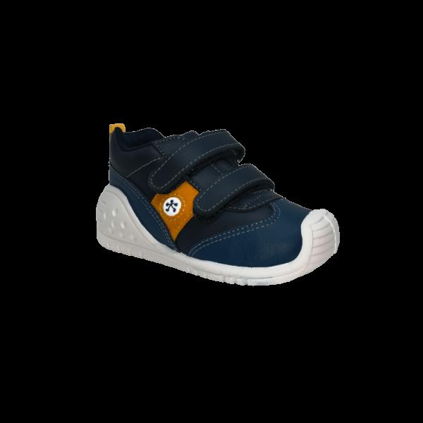 Pantofi sneakers din piele naturală pentru copii cu talpă flexibilă Helder Marino Titanitos
