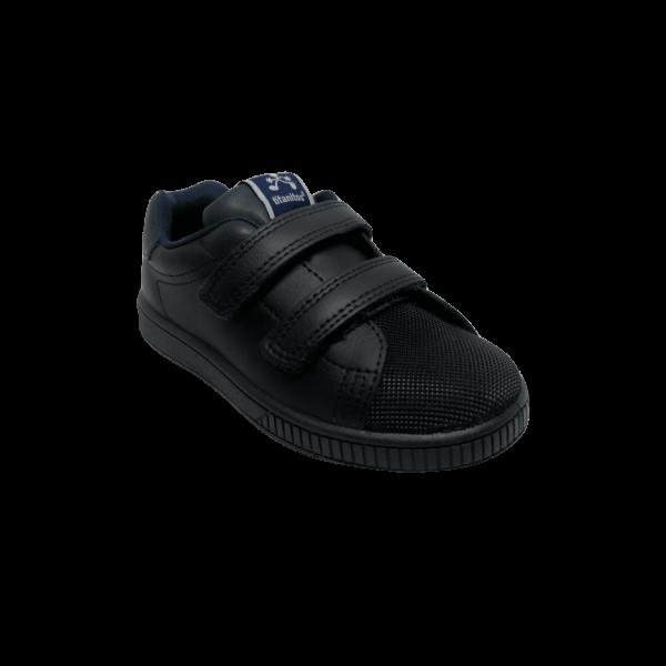 Pantofi sneakers din piele naturală pentru copii cu talpă flexibilă New Cronos Marino Titanitos