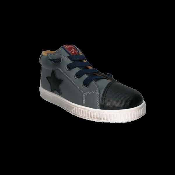 Pantofi sneakers din piele naturală pentru copii cu talpă flexibilă Quirico Marengo Titanitos
