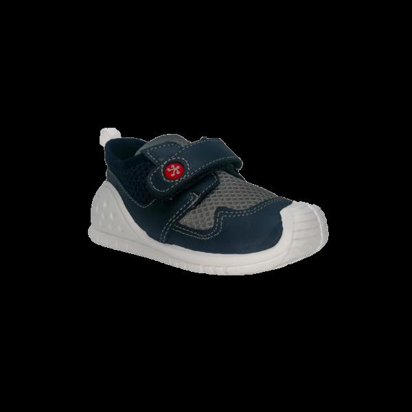 Pantofi sneakers din piele naturală pentru copii cu talpă flexibilă Raul Navy Titanitos