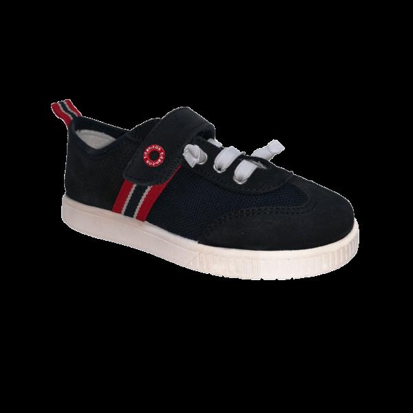 Pantofi sneakers din piele naturală pentru copii cu talpă flexibilă Vigo Marino Titanitos